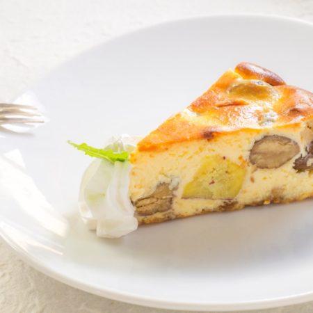 栗とさつまいものチーズケーキ